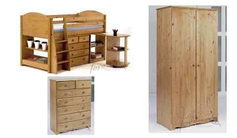 Verona midsleeper bedroom furniture package antique for Furniture packages uk