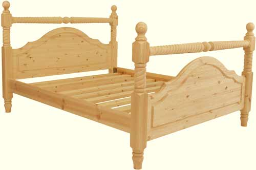 Handmade Pine 'Chilton' Bed | High End | Double