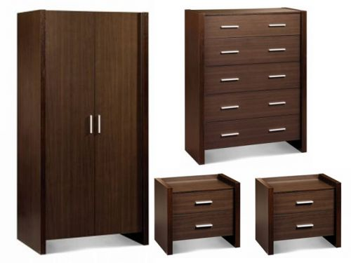 Havana 4 piece bedroom furniture package for Cheap bedroom furniture packages