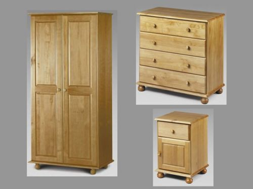 Pickwick 3 piece bedroom furniture package for Cheap bedroom furniture packages