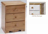 Verona Bedside Chest 3 Drawer | White