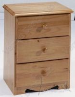 Verona Bedside Chest 3 Drawer | Antique