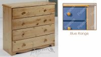 Verona Chest of Drawers 4 Drawer | Blue