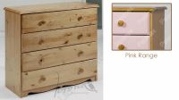 Verona Chest of Drawers 4 Drawer | Pink