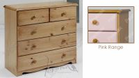 Verona Chest of Drawers 3 + 2 Drawer| Pink