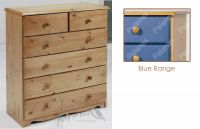 Verona Chest of Drawers 4 + 2 Drawer | Blue