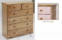 Verona Chest of Drawers 4 + 2 Drawer | Pink
