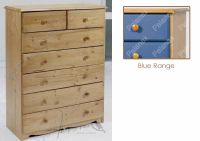 Verona Chest of Drawers 5 + 2 Drawer | Blue