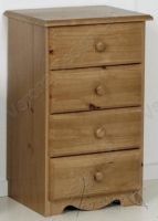 Verona Bedside Chest 4 Drawers | Antique