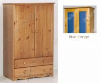 Verona Tall Boy 2 Door with Drawers | Blue