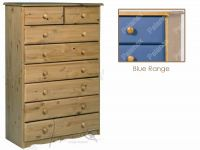 Verona Chest of Drawers 6 + 2 Drawers  | Blue