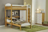 Verona Maximus 'L' Shape Twin Sleeper | White