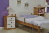 Verona Maximus Single Bed with Mini Safety Rails | White