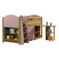 Verona Midsleeper Complete Bedroom Set | Pink