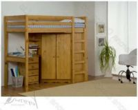 Verona Rimini High Bed With Corner Wardrobe Set | Antique