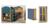 Verona Midsleeper Complete Bedroom Set | Blue