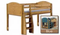 Verona Midsleeper Bed Frame Only | Blue