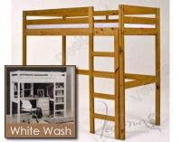 Verona Rimini High Bed Frame Only | White Wash