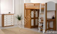 Verona Highsleeper Set with Pullout Desk | White